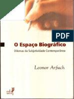 Arfuch-Leonor- O Espaço Biográfico