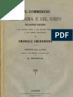 Em Swedenborg SUL COMMERCIO DELL ANIMA E DEL CORPO Loreto Scocia Firenze 1885