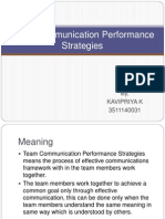 Team Communication Performance Strategies