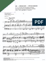 Kodaly Epigrammi per contrabbasso e pianoforte