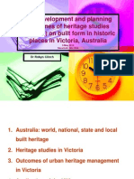 The Development and planning outcomes of heritage studies (surveys) on built form in historic places in Victoria, Australia by Robyn Clinch