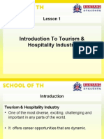 Introduction to Tourism Hospitality Industry