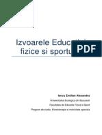 Izvoarele Educatiei Fizice Si Sportului
