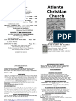 September 22, 2013 Church Bulletin