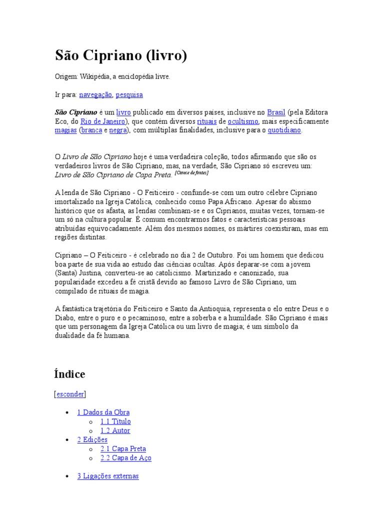 PRETA LIVRO CAPA BAIXAR COMPLETO CIPRIANO DE SAO