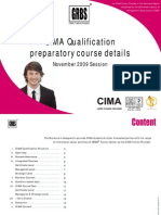 CIMA Courses Brochure