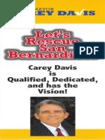 Carey Davis for Mayor 2013 Door Hanger