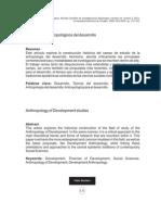 Los Estudios Antropológicos del Desarrollo