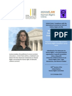 ICCPR Shadow Report - Domestic Violence, Gun Violence, And SYG Laws (Sept 2013)
