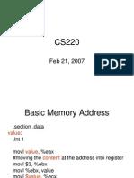 Basic Memory Address