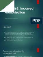 CWE-863 Incorrect Authorization