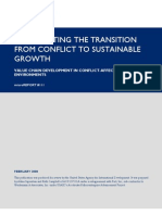 mR 111 - Accelerating the Transition From Conflict to Sustainable Growth