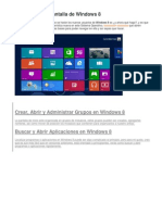 Funciones de Windows 8
