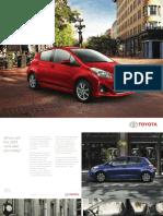 2014 Toyota Yaris brochure