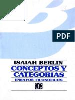 Berlin, Isaiah. Conceptos y Categorías