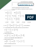 Matrices Laboratorio 03 Adicion Sustraccion 2013 II