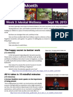 wellness newsletter september mental