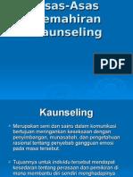 Asas-Asas Kemahiran Kaunseling