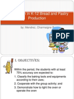 Lesson Plan in K-12 Bread and Pastry Production
