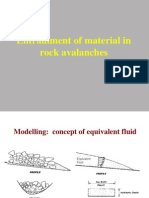Entrainment in Rock Avalanches