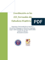 Convocatoria III Jornada de Estudios Históricos 2013