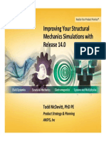 Improving your Structural Mechanics Simulations with ANSYS 14.0