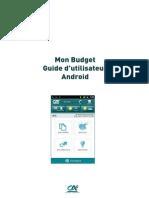 Guide Utilisateur Mon Budget Android