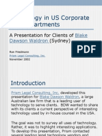 Technology in US Corporate Law Departments - November 2002