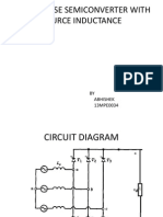 3-Phase Semi Converter With Source Inductance (Ppt)