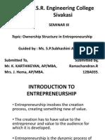12BA035 - Ownership Structure in Entrepreneurship
