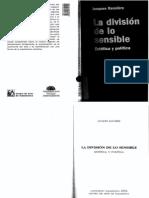 Ranciere, Jacques - La división de lo sensible