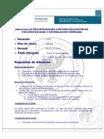 Maestria en Psicopedagogia Con Especializacion en Psicomotricidad y Estimulacion Temprana
