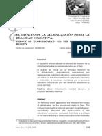 Callalli Pimientel - El impacto de la globalización sobre la realidad educativa