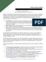 Medicare Open Enrollment Beneficiary 2014