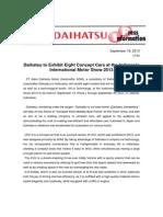 Daihatsu at IIMS 2013