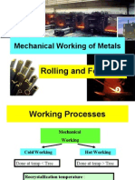 Mechanical Working of Metals (Rolling and Forging)