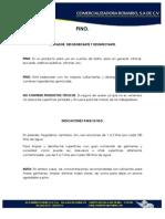 Informacion Tecnica Prod. Romario - Para Combinar