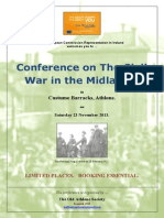 Poster for The Civil War in the Midlands Conference 2013.
