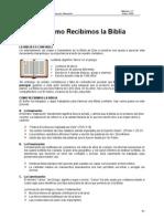A Como Recibimos La Biblia