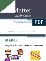 middleschoolscience - matter study guide