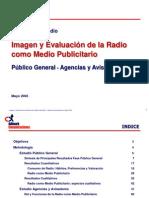 Evaluación Radio Medio Publicitario Adimark 2003