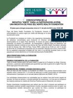 2013 IGNITE RFP Package_Spanish Convocatoria Juventudes