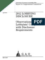 Rapport GAO Sur Lobbying