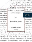 N.S.TANAŞOCA, CREATIE SI TRADITIE LITERARA BIZANTINA