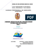 Manual de Uso Básico del  Power System Analysis Toolbox
