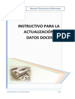 Instructivo Actualizacion - Datos Docente