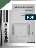 tv gradiente hrm-290s (manual de instrução sem esquema)