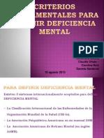 Los Criterios Fundamentales Para Definir El Retardo Mental (1)