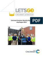 Streetcar monthly report