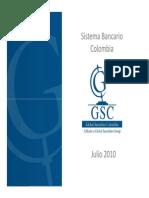 20100728 Sistema Bancario de Colombia